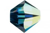 Montana AB 5301/5328 Swarovski Crystal Bicone Beads - Factory Pack Quantity