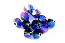 Montana AB 2X 5301/5328 Swarovski Crystal Bicone Beads - Factory Pack Quantity