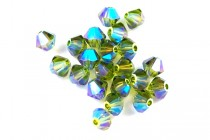 Olivine AB 2X 5301/5328 Swarovski Crystal Bicone Beads - Factory Pack Quantity