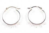 Sterling Silver Earring Hoop w/ 5 Rings