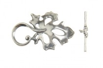 Sterling Silver Toggle Clasp ( Cutout Leaf) 22x32mm - JBB Findings