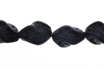 Black Cinnabar ( Imitation ) Beads - Rice Twist - CB-08