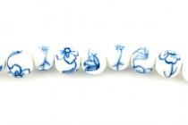 Blue Willow Porcelain Round (Flower Design)