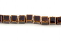 Brown Porcelain Beads Cube