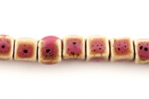 Pink Porcelain Beads Cube
