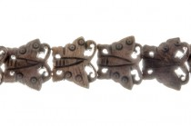 Brown Bone (Dyed) Carved Butterfly Beads