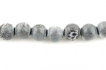Porcelain Beads, Gray, Round