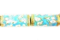 Enamel Light Blue Butterfly Beads - Tube
