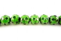 Enamel Green Dots - Round