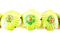 Enamel Lime Green - Flower