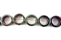 Hematine (Imitation Hematite) Donut -Bead Frame Beads