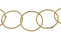 14Kt Gold Filled Twisted Rolo Chain 17mm