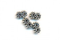 Sterling Silver Bali Style 2 Strand Spacer Double Daisy 5mm BA157