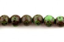 Green Porcelain Beads Round