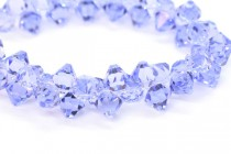 Provence Lavender Swarovski Crystal Top Drilled Bicone Pendants 6301