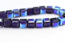 Purple Velvet AB Swarovski Crystal Cube Beads 5601