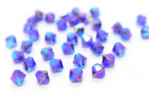 Purple Velvet AB 2x  5301 Swarovski Elements Crystal Bicone Bead