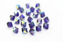 Purple Velvet AB 5301/5328 Swarovski Elements Crystal Bicone Bead
