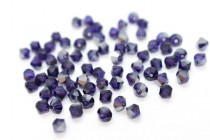 Purple Velvet Satin 5301 Swarovski Elements Crystal Bicone Bead