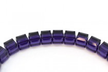 Purple Velvet  5601 Swarovski Elements Crystal Cube Bead