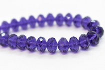 Purple Velvet 5040 Swarovski Crystal Faceted Briolette (Rondelle ) Bead