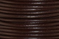Greek Round Leather Cord - Dark Brown