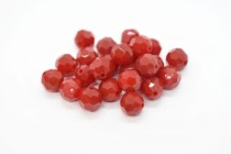 Dark Red Coral Swarovski Crystal Round Beads 5000
