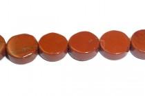 Red Jasper (Natural) Coin Gemstone Beads