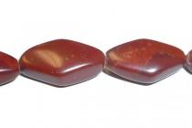 Apple Jasper ( Natural ) A Grade Flat / Rounded Diamond Gemstone Beads