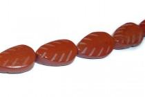 Red Jasper (Natural) Carved Leaf Gemstone Beads