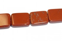 Red Jasper (Natural) Flat Rectangle Gemstone Beads