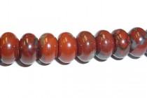 Red Jasper (Natural) Rondelle Gemstone Beads