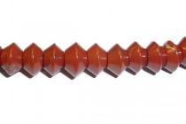 Red Jasper (Natural) Saucer Gemstone Beads
