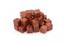 Red Jasper (Natural) Cube Gemstone Beads