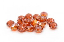 Crystal Red Magma 5040 Swarovski Elements Crystal Faceted Briolette (Rondelle ) Bead