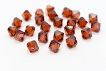 Crystal Red Magma 5301/5328 Swarovski Elements Crystal Bicone Bead