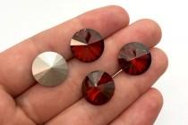 Crystal Red Magma 1122 Swarovski Crystal Elements Faceted Rivoli Rhinestone Foil Back