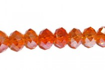 Orange Red Hyacinth Chinese Crystal Rondelle Glass Beads
