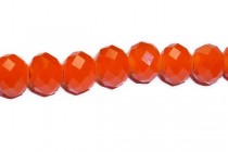 Orange Chinese Crystal Rondelle Glass Beads-opaque
