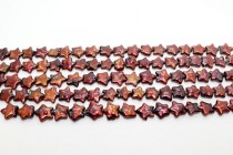 Freshwater Pearls, Star Shaped, Burgundy,12mm
