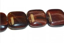 Red Tigers Eye (Natural) Pillow/Square Gemstone Beads