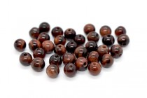Red Tigers Eye (Natural) Smooth Round Gemstone Beads - Large Hole