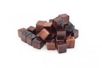Red Tigers Eye (Natural) Cube Gemstone Beads