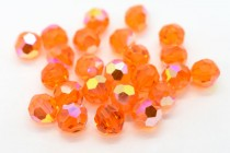 Red Topaz AB  5000 Swarovski Elements Crystal Round Bead
