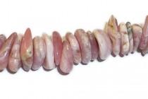 Rhodochrosite (Natural) Irregular Rondelle Gemstone Beads