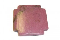 Rhodonite( Natural ) A Grade, Cross, Gemstone Pendant