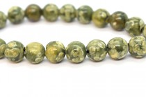 Rhyolite (Natural) Smooth Round Gemstone Beads - Large Hole