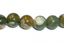 Rhyolite, Natural, A Grade, Big Hole Round Gemstone Beads