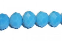 Blue Turquoise Opaque Chinese Crystal Rondelle Glass Beads