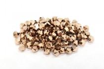 Crystal Rose Gold 2x Swarovski Crystal Bicone Beads 5328
